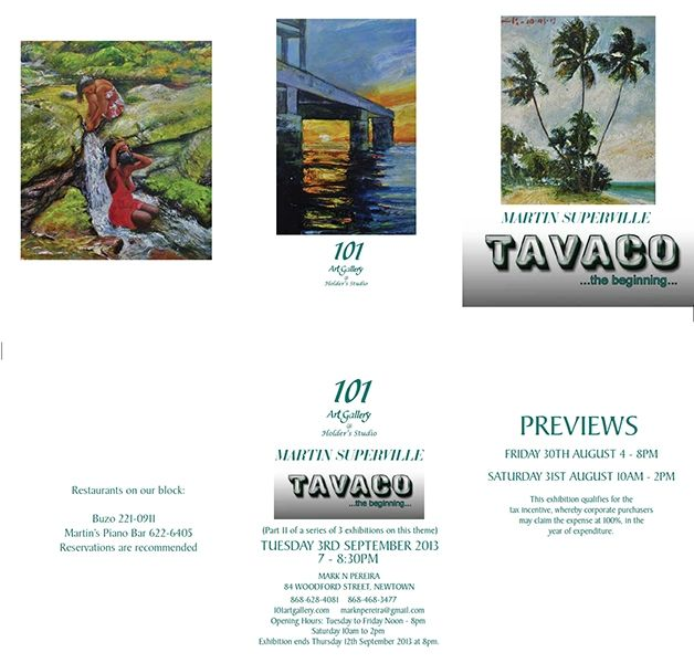 Tavaco: The Beginning - An exhibition by Martin Superville