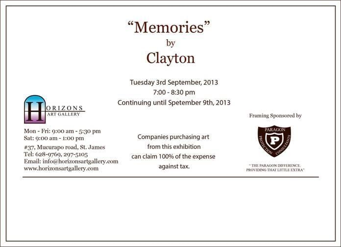 Memories: An exhibition by Clayton De Freitas
