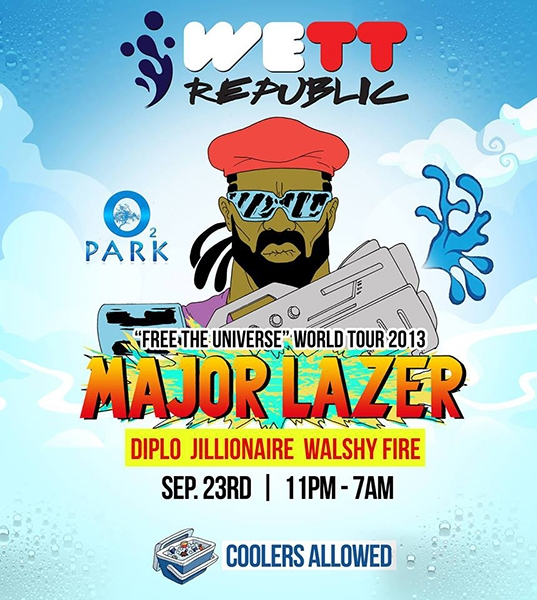 WeTT REPUBLIC Music Festival: Major Lazer's  Free The Universe  World Tour 2013