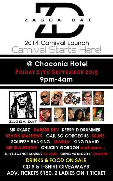 Zagga Dat 2014 Carnival Launch