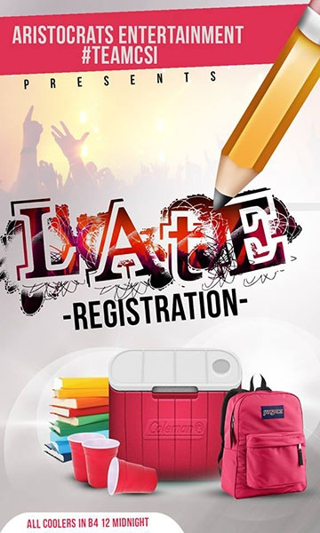 Late Registration: Ultimate College Party
