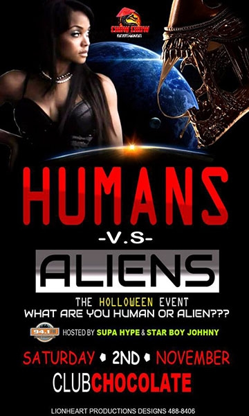 Humans VS Aliens: The Halloween Event