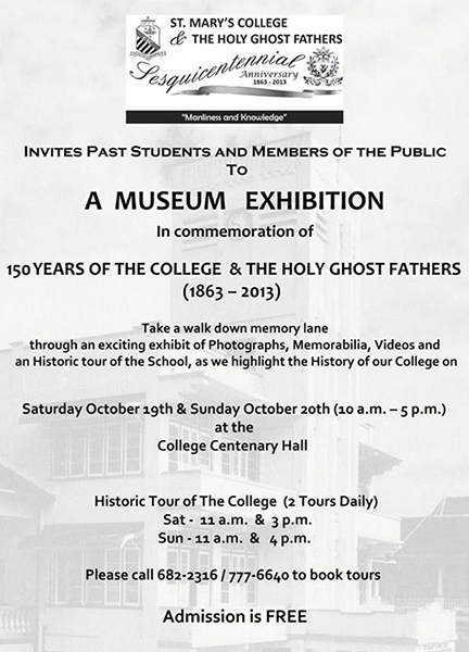 Museum Exhibition: 150 Years of St. Mary's College and The Holy Ghost Fathers