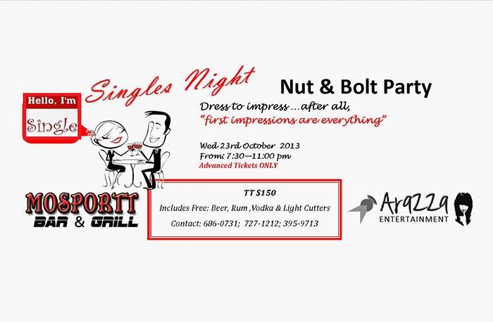 Singles Night: Nut & Bolt Party