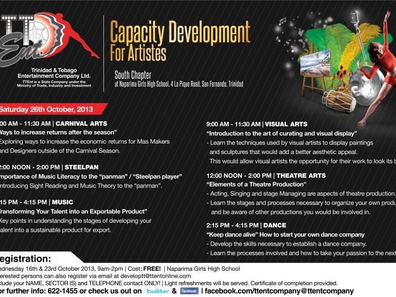 Capacity Development for Artistes- South 2013