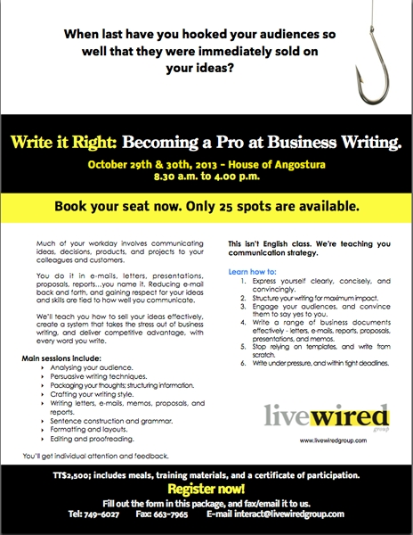 Write It Right: Becoming A Pro At Business Writing ID 7473