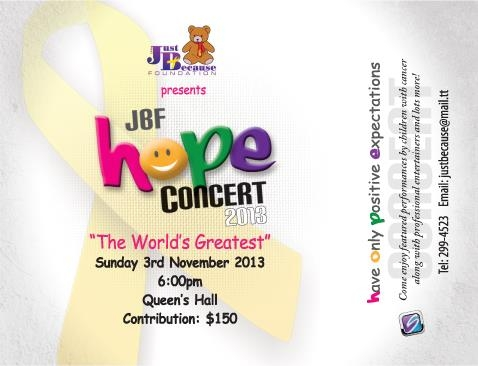 Just Because Foundation HOPE Concert 2013