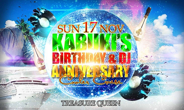 Kabuki's DJ Anniversary and Birthday Cruise