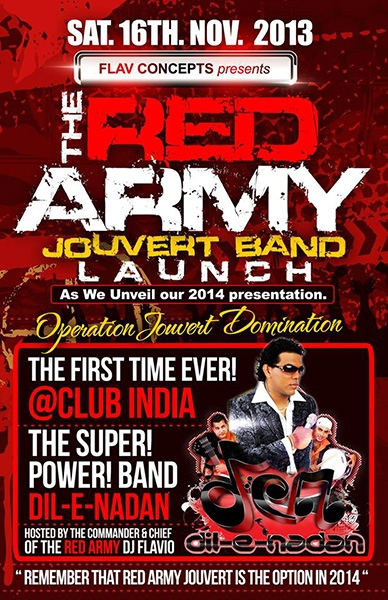 Red Army 2014 J'ouvert Band Launch