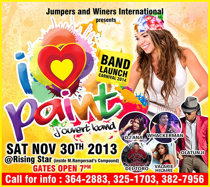 Jumpers and Winers International 2014 J'ouvert Band Launch: I Love PAINT
