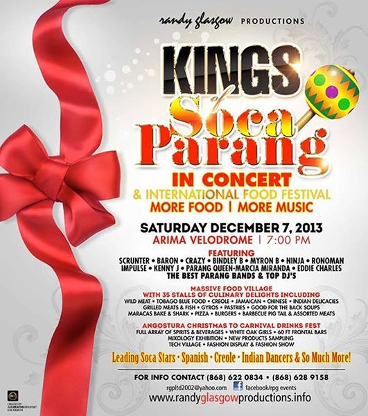Kings of Soca Parang in Concert & International Food Festival