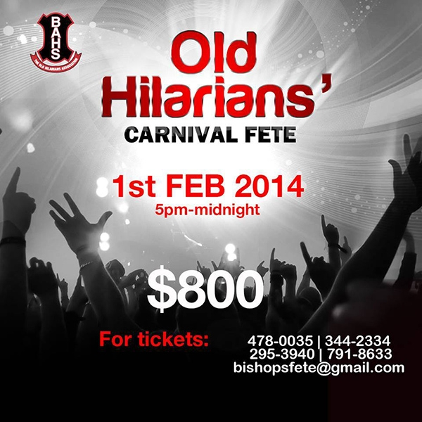 Old Hilarians' All Inclusive Carnival Fete 2014