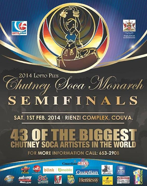 Lotto Plus Chutney Soca Monarch Semi Finals 2014