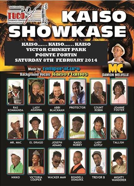 Kaiso Showkase Calypso Tent 2014