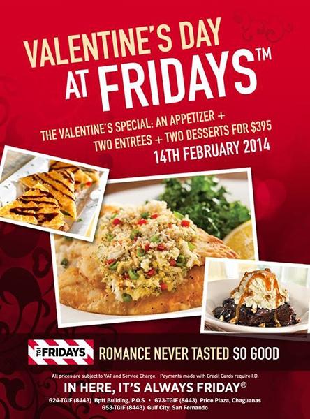 Valentine's Day at Fridays