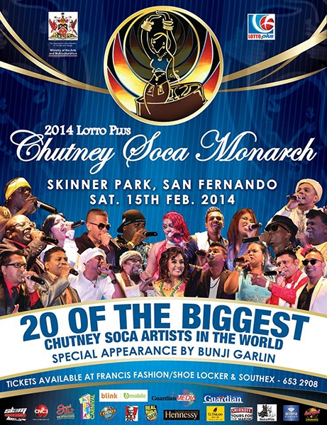 Lotto Plus Chutney Soca Monarch Finals 2014