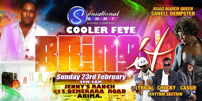 Sensational Sammy's Cooler Fete: Bring It