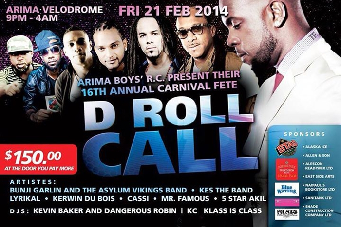 Arima Boys' R.C. School Carnival Fete: D Roll Call