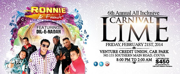 6th Annual Ronnie & Friends All Inclusive Carnival Lime