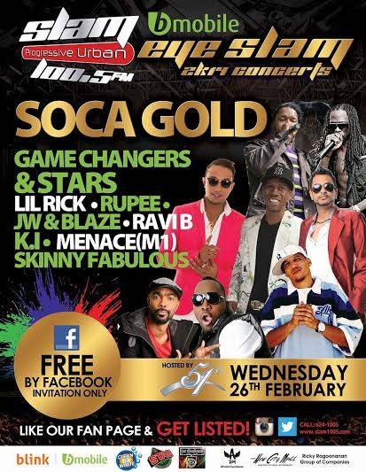 Eye Slam Concert Series 2014: Soca Gold